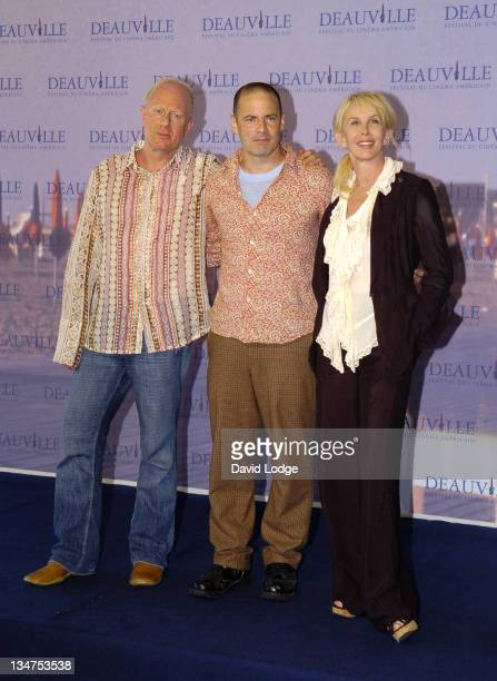 Bobby Sager and Dito Montiel and Trudie Styler during The 32nd Annual Deauville American Film Festival - A Guide To Recognizing Your Saints -...