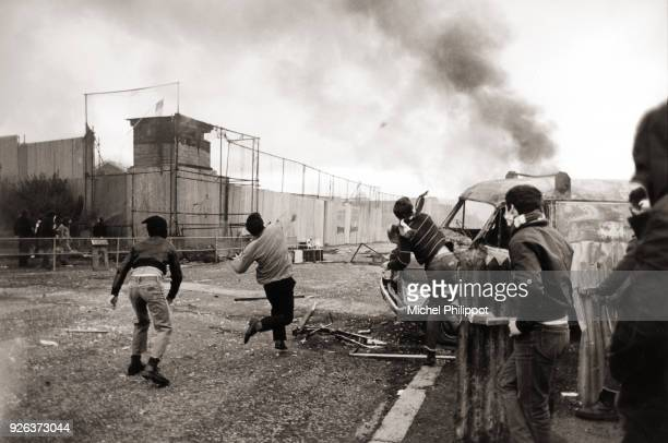 Bobby Sands died in the Maze prison after 66 days of hunger strike An outbreak of violent clashes followed in the Catholic areas of Belfast