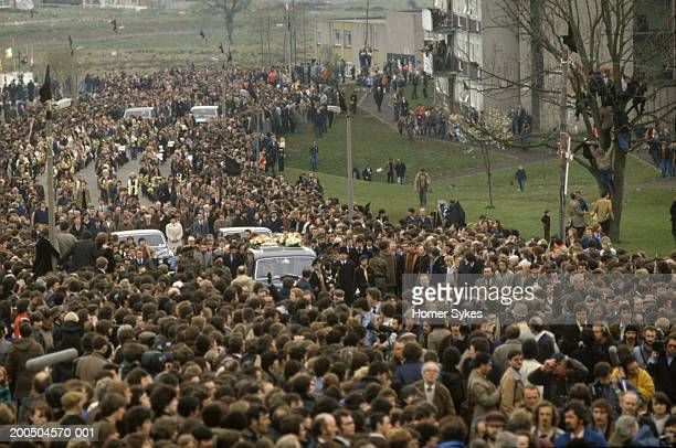 Bobby Sands funeral He was the most prominent Irish political prisoner hunger striker and Member of Parliament The funeral cortege on its way to...