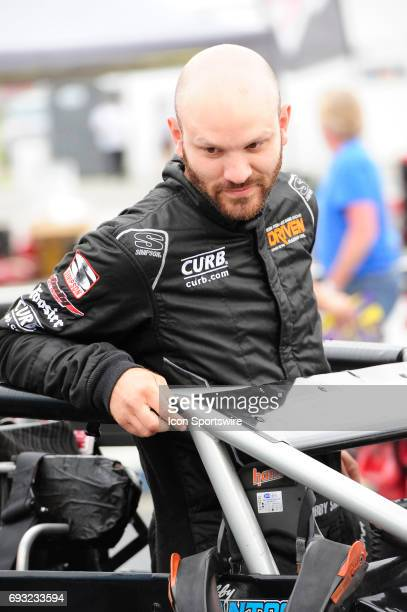 Bobby Santos DJ Racing driver prepares for the Carb Night Classic United States Auto Club Silver Crown Champ Car Series 100lap feature Friday May 26...