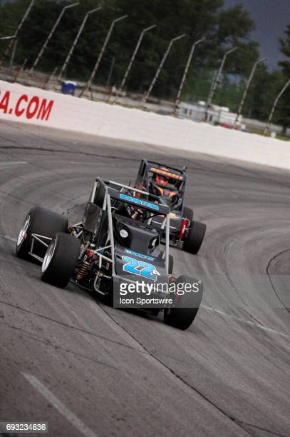 Bobby Santos DJ Racing races in the Carb Night Classic United States Auto Club Silver Crown Champ Car Series 100lap feature Friday May 26 on Lucas...