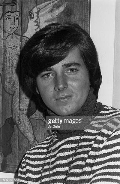 Bobby Sherman wearing a striped sweater circa 1970 New York