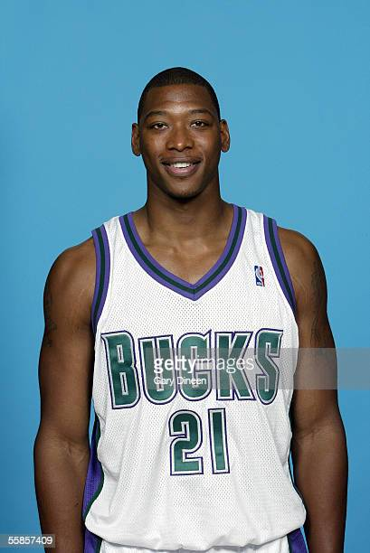 Bobby Simmons of the Milwaukee Bucks poses for a portrait during NBA Media Day on October 3 2005 in St Francis Wisconsin NOTE TO USER User expressly...