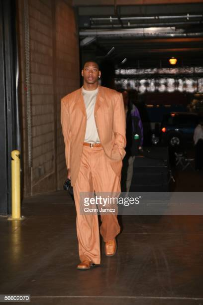 Bobby Simmons of the Milwaukee Bucks walks into the American Airlines Center prior to their game against the Dallas Mavericks on January 16 2006 at...