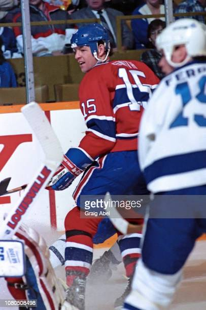Bobby Smith of the Montreal Canadiens skates against the Toronto Maple Leafs during NHL game action on January 27 1990 at Maple Leaf Gardens in...
