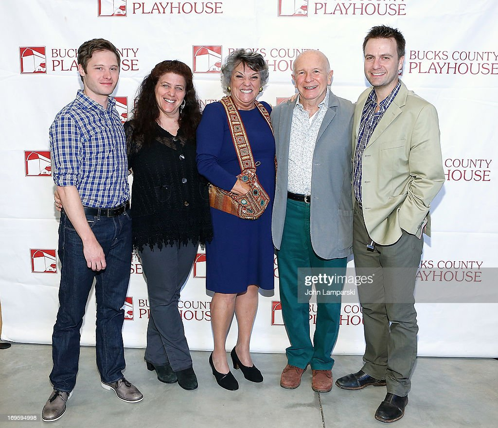 Bobby Steggert, Sheryl Kaller, Tyne Daly, Terrence McNally and Manoel Felciano attend 2013 Bucks County Playhouse Summer Season Press Preview at Signature Theater on May 28, 2013 in New York City.