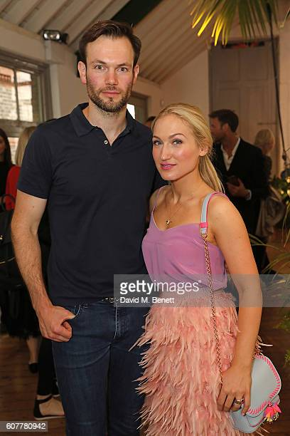 Bobby Stockley and Sophia Webster attend the Sophia Webster SS17 Presentation during London Fashion Week at Elms Lesters Gallery on September 19 2016...