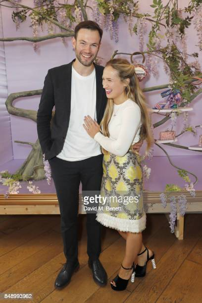Bobby Stockley and Sophia Webster attend the Sophia Webster SS18 Presentation at The Portico Rooms Somerset House on September 18 2017 in London...