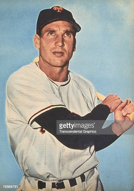 Bobby Thomson, hero of the 1951 New York Giants, poses for a color photo in 1952.