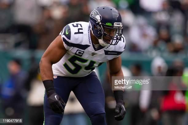 Bobby Wagner of the Seattle Seahawks in action against the Philadelphia Eagles at Lincoln Financial Field on November 24 2019 in Philadelphia...