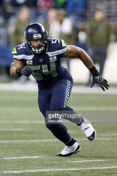 Bobby Wagner of the Seattle Seahawks in action during the game against the Green Bay Packers at CenturyLink Field on November 15 2018 in Seattle...