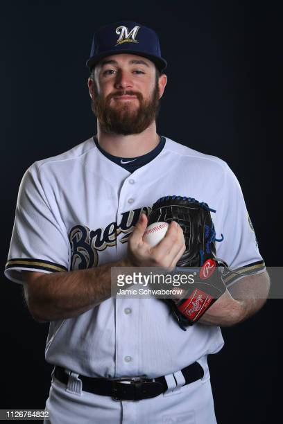 Bobby Wahl of the Milwaukee Brewers poses during the Brewers Photo Day on February 22 2019 in Maryvale Arizona