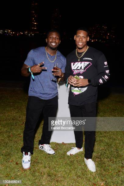 Bobby Wesley and Rackim Bean attend Lil Wayne's Funeral album release party on February 01 2020 in Miami Florida