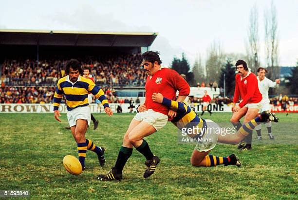 Bobby Windsor of the British Lions kicks the ball upfield during the match between Bay of Plenty and the British Lions on August 9 1977 in Rotorua...