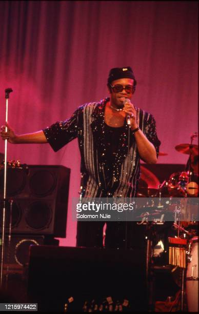 Bobby Womack at Wembley Arena for a charity concert to raise money for AIDS research, 3rd April 1987 .