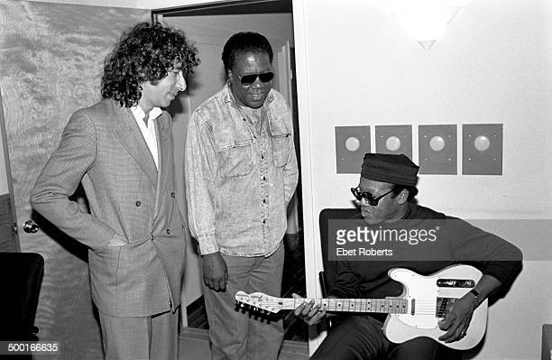 Bobby Womack,Don Covay and Murray Weinsted at Krypton Studio in New York City recording with Paul Shaffer on April 29, 1988.