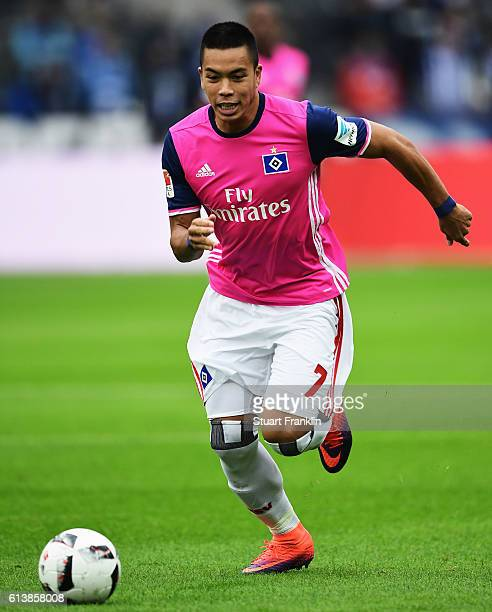 Bobby Wood of Hamburg in action during the Bundesliga match between Hertha BSC and Hamburger SV at Olympiastadion on October 1 2016 in Berlin Germany