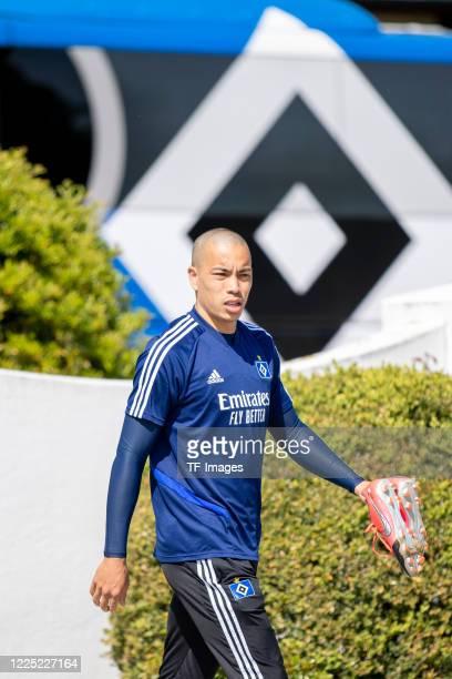 Bobby Wood of Hamburger SV during the training session of Hamburger SV on May 16 2020 in Herzogenaurach Germany