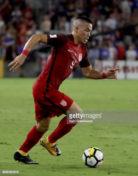 Bobby Wood of the United States drives down the field during the final round qualifying match against Panama for the 2018 FIFA World Cup at Orlando...