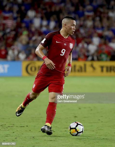 Bobby Wood of the United States drives up the field during the final round qualifying match against Panama for the 2018 FIFA World Cup at Orlando...