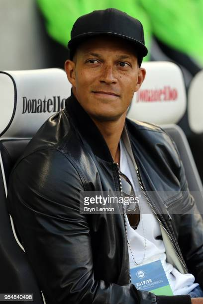 Bobby Zamora attends the Premier League match between Brighton and Hove Albion and Manchester United at Amex Stadium on May 4 2018 in Brighton England