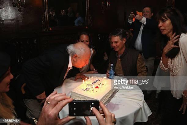 Bobby Zarem Christy Turlington and DuJour Media Founder Jason Binn attend Bobby Zarem's Birthday at The Cutting Room on September 29 2014 in New York...