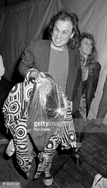 Bobcat Goldthwait and Ann Luly attend Comic Relief Benefit on March 29 1986 at the Universal Ampitheater in Universal City California