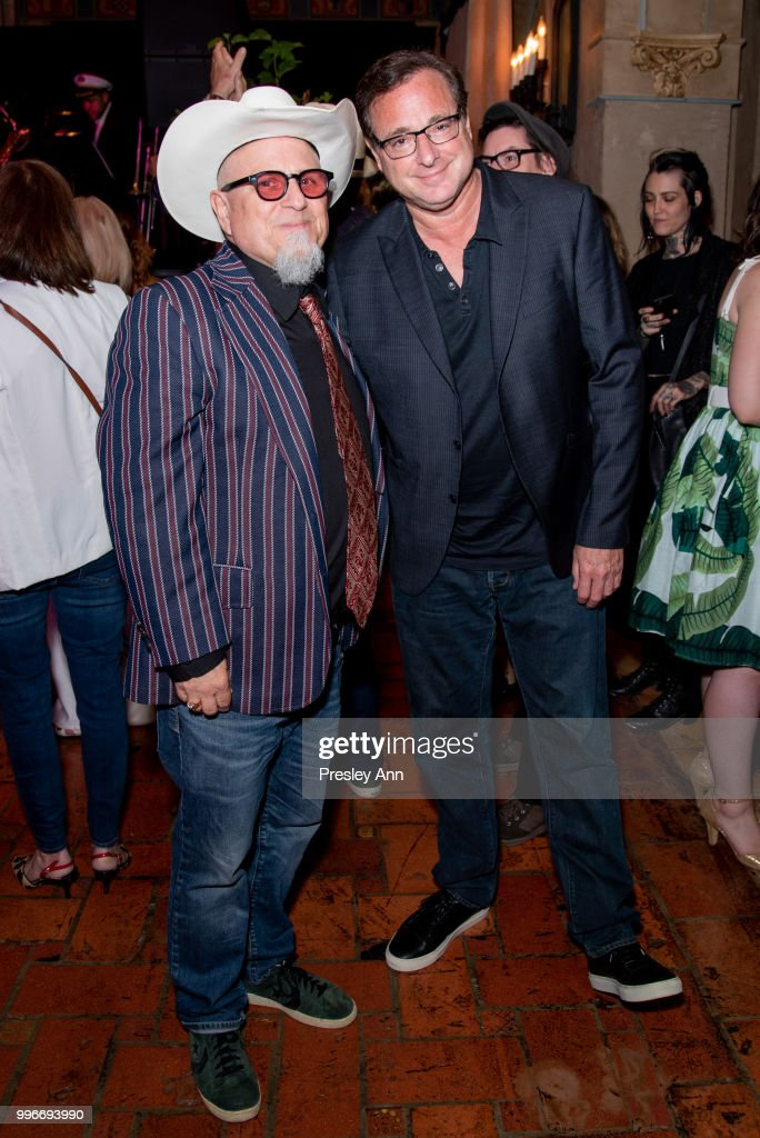 Bobcat Goldthwait and Bob Saget attend after party for the premiere of truTV's 'Bobcat Goldthwait's Misfits & Monsters' at Hollywood Roosevelt Hotel on July 11, 2018 in Hollywood, California.