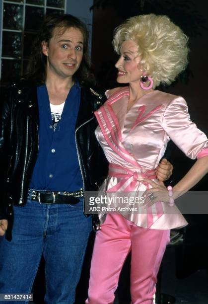 Bobcat Goldthwait and Dolly Parton on 'Dolly' in 1987