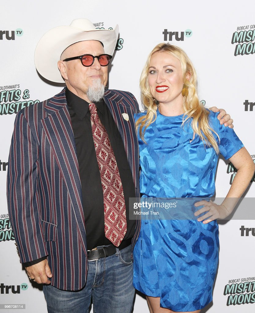 Bobcat Goldthwait and his daughter, Tasha Goldthwait attend the Los Angeles premiere of truTV's 'Bobcat Goldthwait's Misfits & Monsters' held at Hollywood Roosevelt Hotel on July 11, 2018 in Hollywood, California.