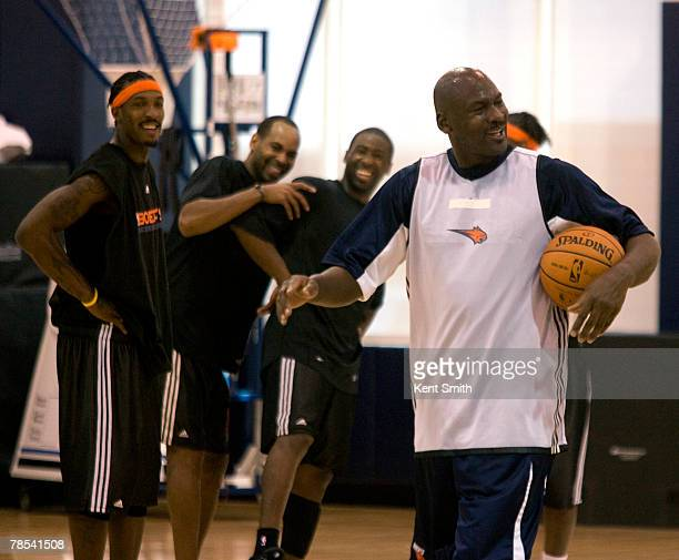 Bobcats Managing Member of Basketball Operations Michael Jordan works out with the Charlotte Bobcats on December 18 2007 at the Charlotte Bobcats...