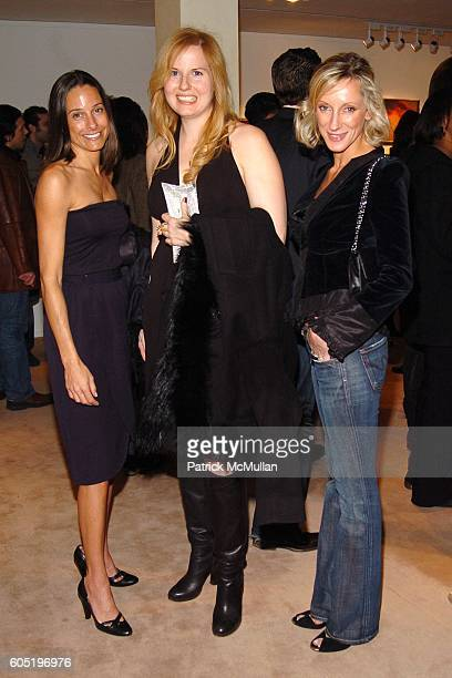Bobette Cohen Sandra Ballentine and Jackie Astier attend LOU REED Photography Exhibition hosted by HERMES at The Gallery at Hermes on January 19 2006