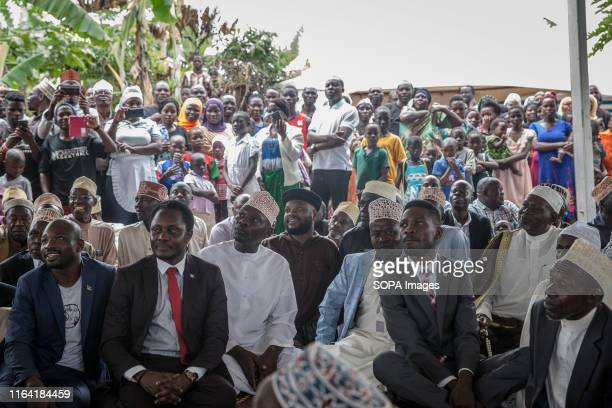 Bobi Wine at a campaign event in Gombe Bobi Wine whose real name is Robert Kyagulanyi a popstar and opposition leader under the people power campaign...