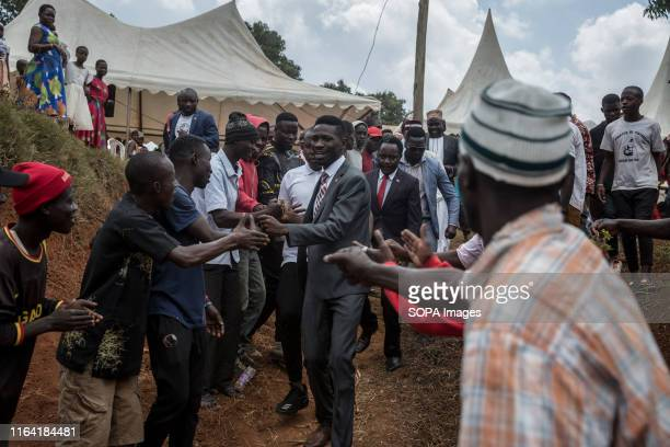 Bobi Wine during a campaign event in Gombe Bobi Wine whose real name is Robert Kyagulanyi a popstar and opposition leader under the people power...