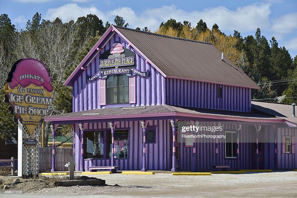 Bobkat's Purple Pie Place, Custer, South Dakota : Stock Photo