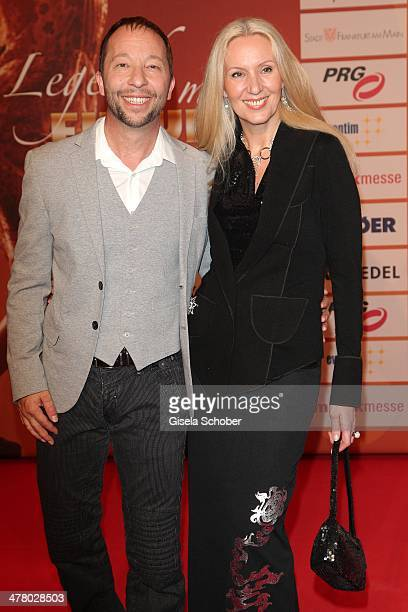 Bobo and wife Nancy attend the LEA Live Entertainment Award 2014 at Festhalle Frankfurt on March 11 2014 in Frankfurt am Main Germany