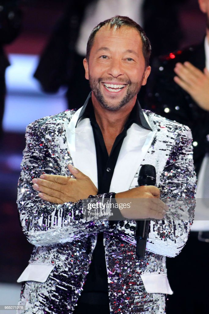 DJ Bobo during the tv show 'Willkommen bei Carmen Nebel' at Sachsen-Arena on May 5, 2018 in Riesa, Germany.