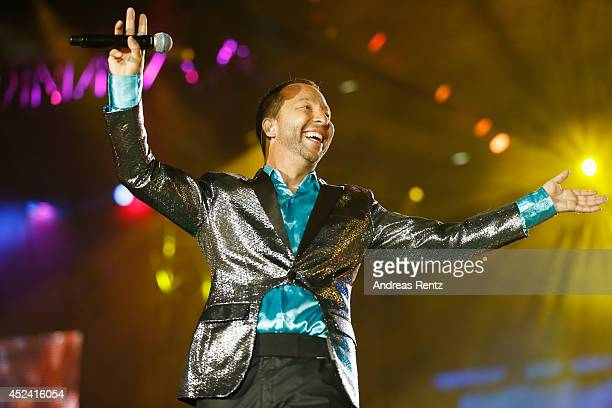 Bobo performs live on stage during the Andrea Berg Open Air festival 'Heimspiel' at mechatronik Arena on July 19 2014 in Grossaspach Germany