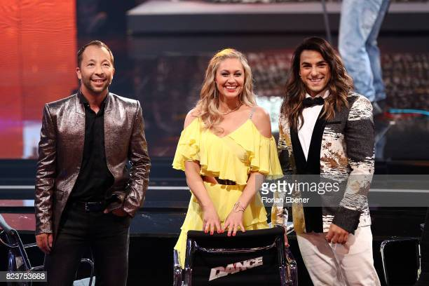 Bobo Ruth Moschner and Cale Kalay during the 1st show of the television competition 'Dance Dance Dance' on July 12 2017 in Cologne Germany The first...