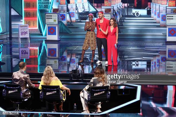 Bobo Ruth Moschner Cale Kalay Aminata Sanogo Marc Eggers and Nazan Eckes perform on stage during the 1st show of the television competition 'Dance...