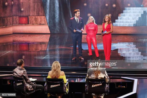 Bobo Ruth Moschner Cale Kalay Jan Koeppen Sandy Moelling and Nazan Eckes perform on stage during the 1st show of the television competition 'Dance...