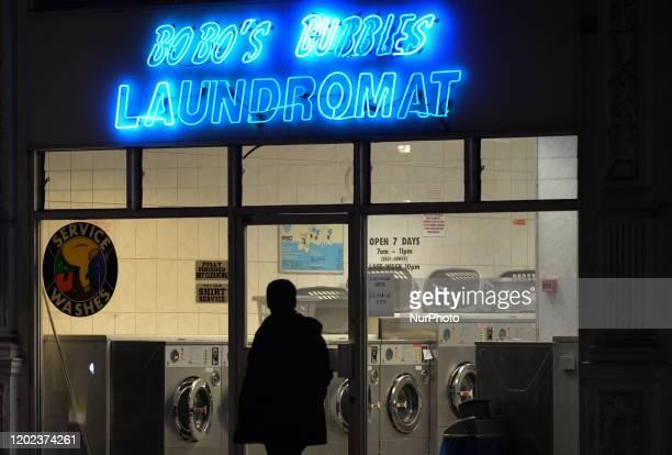 Bobo's Bubbles - a local Laundromat in Chelsea London. On Saturday, 25 January 2019, in London, United Kingdom.