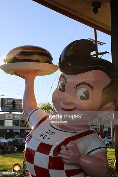 Bob's Big Boy statue outside of the restaurant in Chatsworth CA location Very few of the exist anymore so tourists come far and wide to take pictures...