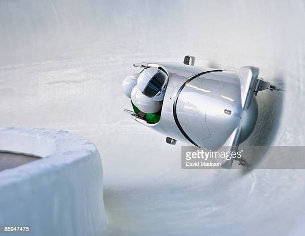 bobsled on track. - bobsledding stock pictures, royalty-free photos & images
