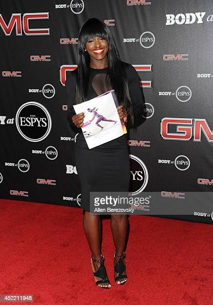 Bobsledder Aja Evans attends ESPN Presents BODY At ESPYS PreParty at Lure on July 15 2014 in Hollywood California