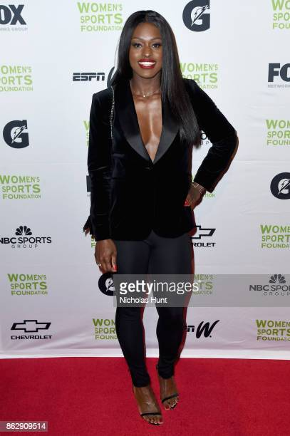 Bobsledder Aja Evans attends the The Women's Sports Foundation's 38th Annual Salute To Women in Sports Awards Gala on October 18 2017 in New York City