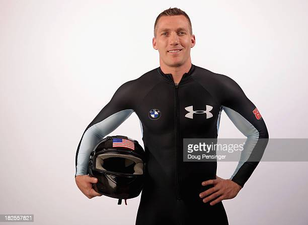 Bobsledder Chris Fogt poses for a portrait during the USOC Media Summit ahead of the Sochi 2014 Winter Olympics on September 29 2013 in Park City Utah