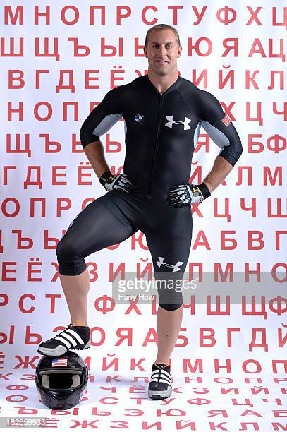 Bobsledder Curt Tomasevicz poses for a portrait during the USOC Media Summit ahead of the Sochi 2014 Winter Olympics on September 29 2013 in Park...