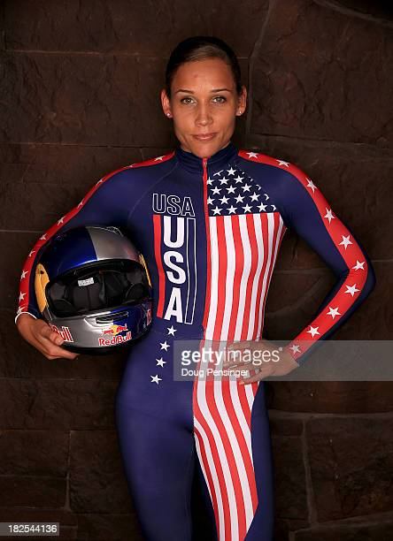 Bobsledder Lolo Jones poses for a portrait during the USOC Media Summit ahead of the Sochi 2014 Winter Olympics on September 29 2013 in Park City Utah