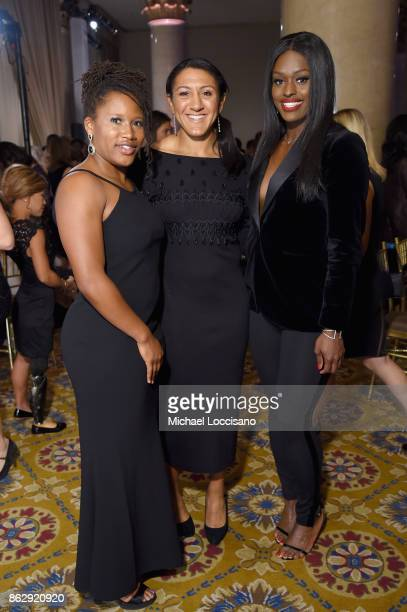 Bobsledders Elana Meyers Taylor Lauryn Williams and Aja Evans attend The Women's Sports Foundation's 38th Annual Salute To Women in Sports Awards...